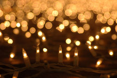 Glowing lights decoration Stock Photography