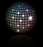 Glowing lights and disco ball Royalty Free Stock Photography