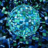 Glowing lights and disco ball. EPS 8. Abstract party Background with glowing lights and disco ball. EPS 8 file included Royalty Free Illustration