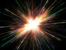 Glowing lights, particle explosion Stock Photos