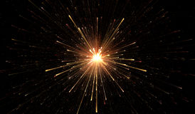 Glowing lights, particle explosion. Illustration stock illustration