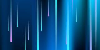 Glowing Lines. Digital Falling Glare. royalty free illustration