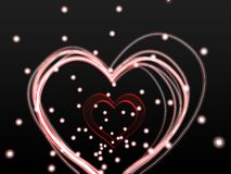 Glowing lines heart Stock Photography