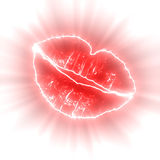 Glowing lips Stock Photo