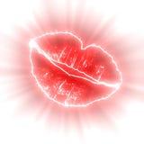 Glowing lips Stock Photo