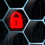 Glowing lock security system Royalty Free Stock Photography