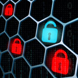 Glowing locks security Stock Images