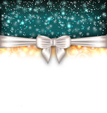 Glowing Luxury Background with Bow Ribbon Stock Photos
