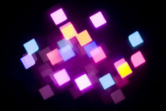 Glowing magenta lights Royalty Free Stock Photography
