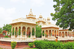 Glowing marble monument of Jaswant Thada jodhpur rajasthan india Royalty Free Stock Photography