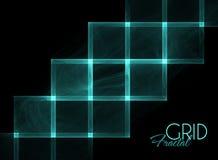 Glowing matrix on a black Royalty Free Stock Photo
