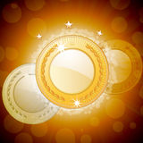 Glowing medal background Royalty Free Stock Images