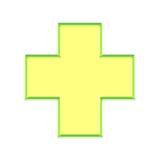 Glowing Medic cross button Stock Photos