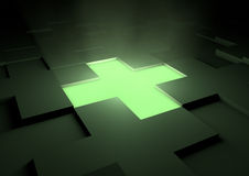 Glowing medical cross Stock Images