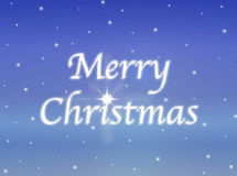 Glowing Merry Christmas Sign Stock Photos