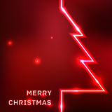 Glowing Merry Christmas typographic card Stock Photography
