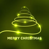 Glowing Merry Christmas typographic card Stock Photos