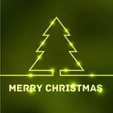 Glowing Merry Christmas typographic card Stock Images