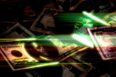 Glowing Money Background Royalty Free Stock Images