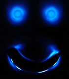 Glowing Monster Face. Body Parts - Glowing blue monster face Royalty Free Illustration
