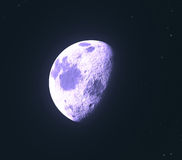 Glowing moon Royalty Free Stock Photos