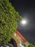 Glowing moon in the night royalty free stock photos