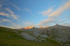 Glowing mountain peak Royalty Free Stock Images