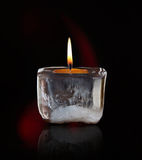 Glowing mourning candle. Image of a glowing mourning candle Royalty Free Stock Photo