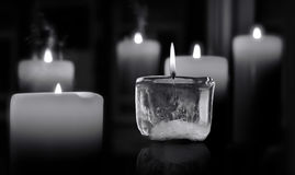 Free Glowing Mourning Candle.s Stock Photo - 84207370
