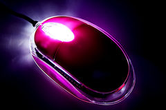 Glowing Mouse. Mouse glowing in the dark Royalty Free Stock Photos