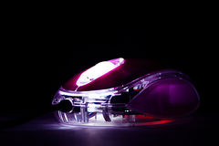 Glowing Mouse. Mouse glowing in the dark Stock Photos