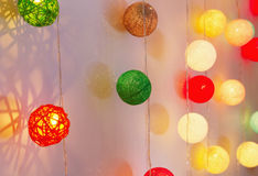 Glowing multicolored garlands Stock Image