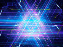 Glowing multicolored triangle Royalty Free Stock Image