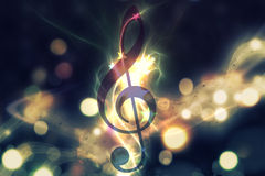 Glowing music background Stock Images