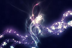 Glowing music background Stock Photo
