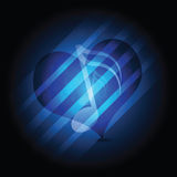 Glowing music heart Stock Photo