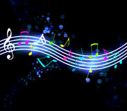 Glowing Music Notes Royalty Free Stock Images