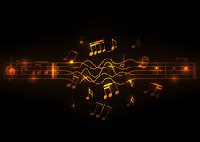 Glowing musical notes design Royalty Free Stock Photography