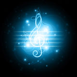 Glowing musical symbols Stock Photos