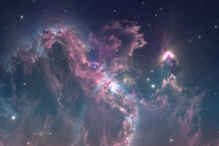 Glowing nebula is the remnant of a supernova explosion, illustration Stock Image