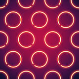 Glowing Neon Circles Seamless Background. This texture is in a Swatches Panel and style is in a Graphic Styles Panel Stock Photo