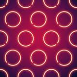 Glowing Neon Circles Seamless Background Stock Photo