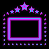 Glowing Neon Frame. Abstract Background - Glowing Frame on Black Background - Vector Stock Photos