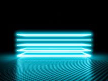Glowing neon frame on carbon royalty free stock image