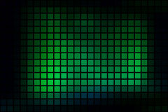 Glowing neon green abstract rounded mosaic background over black Royalty Free Stock Photography