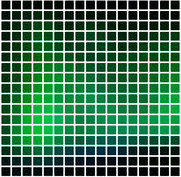 Glowing neon green rounded mosaic background over white square Royalty Free Stock Photo