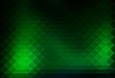 Glowing neon green rows of triangles background Royalty Free Stock Image