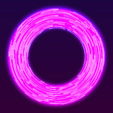 Glowing neon ring background Royalty Free Stock Photography