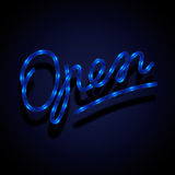 Glowing neon sign - Open Stock Photos