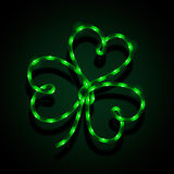 Glowing neon sign - Shamrock Royalty Free Stock Image